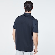 Color Block Shade Polo - Blackout