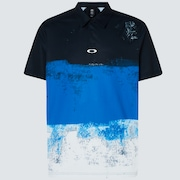 Color Block Shade Polo - Uniform Blue
