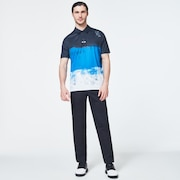 Color Block Shade Polo - Uniform Blue