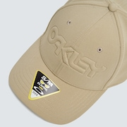 6 Panel Stretch Hat Embossed - Safari