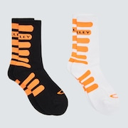 Bold Striped Socks (2 Pcs) - Blackout