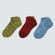 Short Socks Heather (3 Pcs) - New Dark Brush