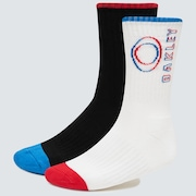 Match Ellipse Socks (2 Pcs) - White
