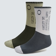 Iconic Oakley Socks (2 Pcs) - Uniform Gray