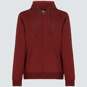 Camo Lines Ellipse FZ Hoodie - Spicy Red