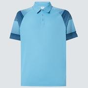 Dot Sleeves Polo - Aviator Blue