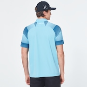 Dot Sleeves Polo - Aviator Blue