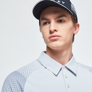 Dot Sleeves Polo - Lunar Rock