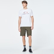 USA Flag Ellipse Short Sleeve Tee - White