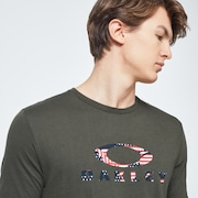 USA Flag Ellipse Short Sleeve Tee - New Dark Brush
