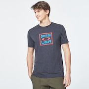 Box Oakley USA Short Sleeve Tee - Dark Gray Heather