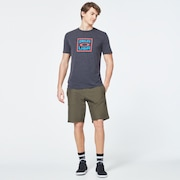 Box Oakley USA Short Sleeve Tee - Dark Gray Heather
