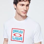 Box Oakley USA Short Sleeve Tee - White