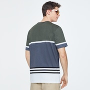 Striped 1975 Short Sleeve Tee - Dark Brush Color Block