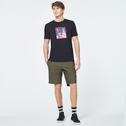 USA Flag Picture Short Sleeve Tee - Blackout