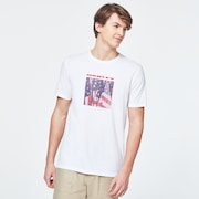 USA Flag Picture Short Sleeve Tee - White