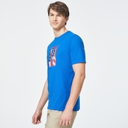 USA Flag Picture Short Sleeve Tee - Uniform Blue