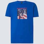 USA Flag Picture Short Sleeve Tee - Uniform Blue