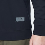 Patch Fleece Crewneck - Blackout