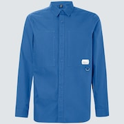Workwear Patch LS Shirt - Interstellar Blue