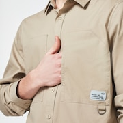 Workwear Patch LS Shirt - Safari
