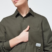 Workwear Patch LS Shirt - New Dark Brush
