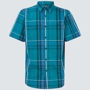 Beyond Basic Check Short Sleeve Shirt - Green Check