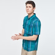 Beyond Basic Check Short Sleeve Shirt - Green Check