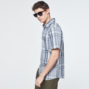 Beyond Basic Check Short Sleeve Shirt - Gray Check