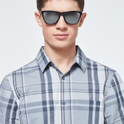 Beyond Basic Check Short Sleeve Shirt - Gray Check