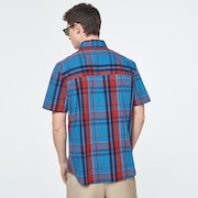 Beyond Basic Check Short Sleeve Shirt - Orange Check