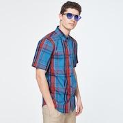 Beyond Basic Check Short Sleeve Shirt - Orange Check