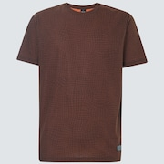 Iridium Grid Short Sleeve Tee - New Orange Grid Print