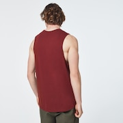 Sunset Ellipse Tank Top - Spicy Red