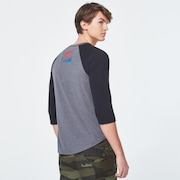 USA Gradient Ellipse 3/4 Tee - New Athletic Gray