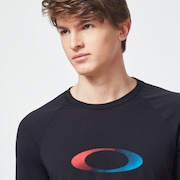USA Gradient Ellipse 3/4 Tee - Blackout