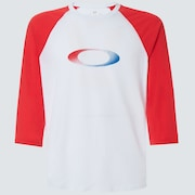 USA Gradient Ellipse 3/4 Tee - White
