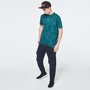 Broken Glass Short Sleeve Tee - Green Glass Print