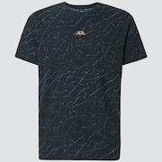 Broken Glass Short Sleeve Tee - Black Glass Print