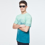Gradient Spray Short Sleeve Tee - Gradient Green Print