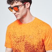 Gradient Spray Short Sleeve Tee - Gradient Orange Print