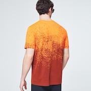 Gradient Spray Short Sleeve Tee - Gradient Orange Print