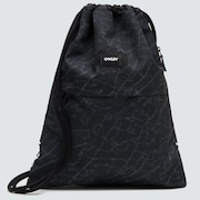 Street Satchel Bag - Black Glass Print
