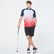Pop Spray Short Sleeve Polo - High Risk Red