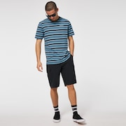 Large Stripe Short Sleeve T-Shirt - Provincial Blue