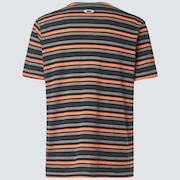 Large Stripe Short Sleeve T-Shirt - Neon Orange
