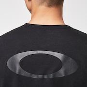 Stripe Barck Logo SS T-Shirt - Blackout