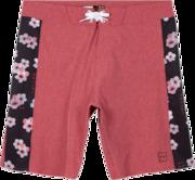 Sakura Blocked Boardshorts - Sepia Rose