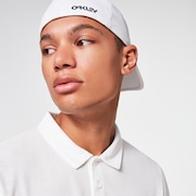 6 Panel Stretch Metallic Hat - White