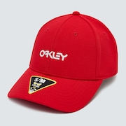 6 Panel Stretch Metallic Hat - Red Line